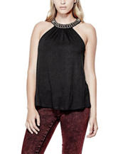 G by Guess Black Catalynn Halter Top