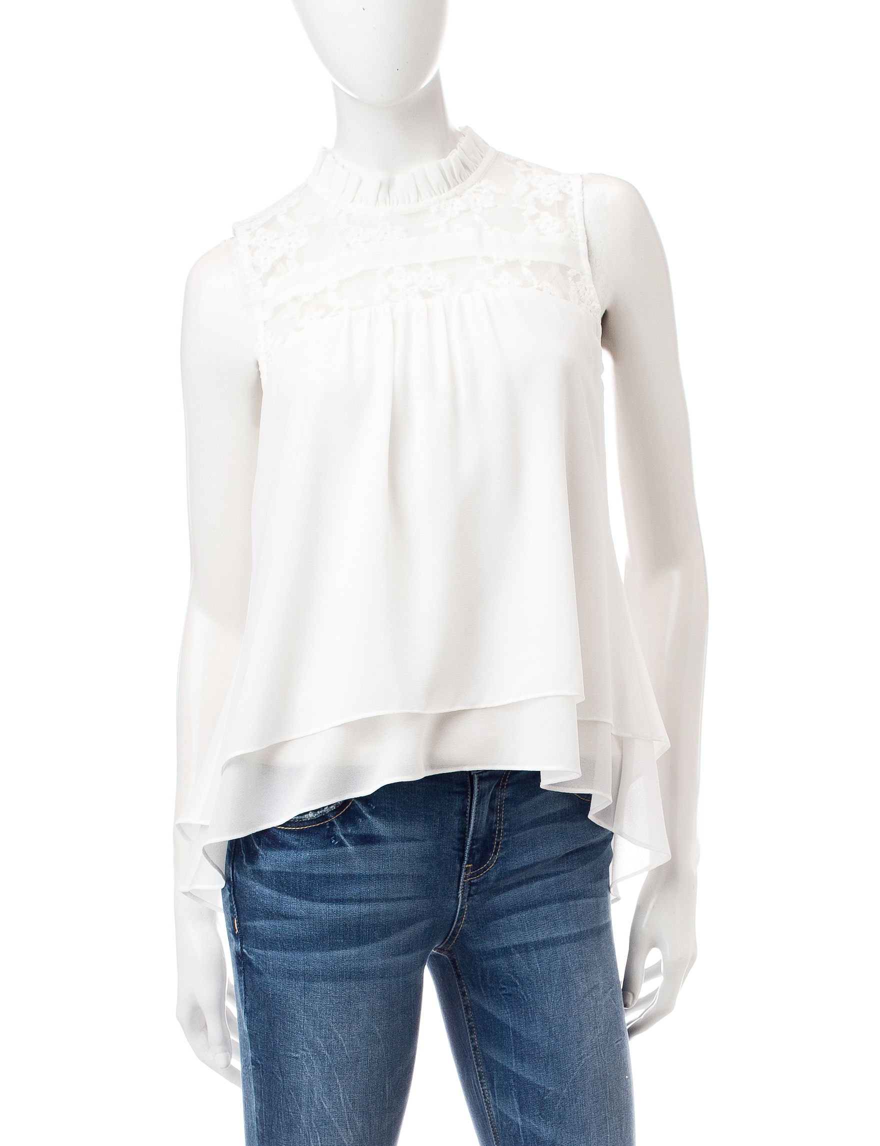 My Michelle White Shirts & Blouses