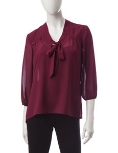 My Michelle Maroon Shirts & Blouses