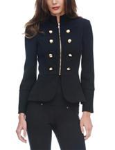 XOXO Black Peplum Jacket