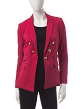 XOXO Cranberry Button Jacket