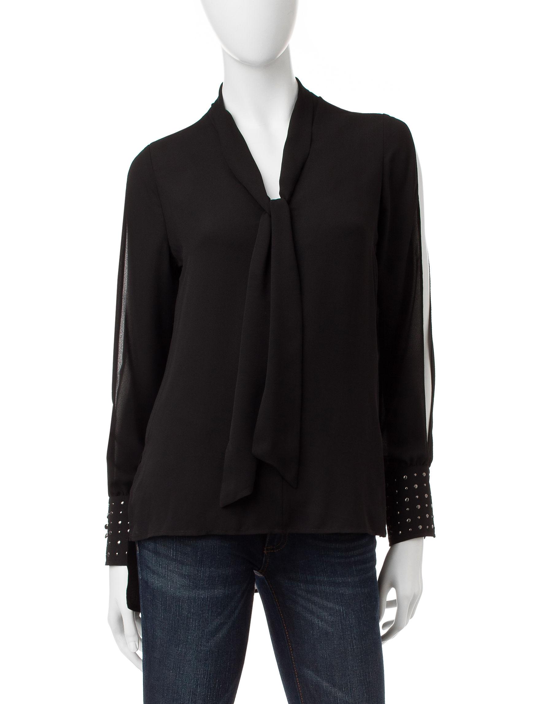 XOXO Black Shirts & Blouses