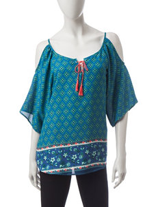 Liberty Love Teal Shirts & Blouses