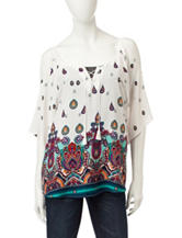 Liberty Love Paisley Print Cold Shoulder Top