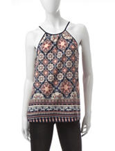 Justify Multicolor Medallion Print Top