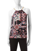 Justify Reversible Mixed-Print Top