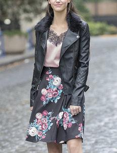 YMI Black Faux Leather Jacket