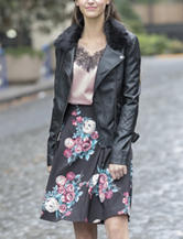 YMI Black Faux Leather Jacket