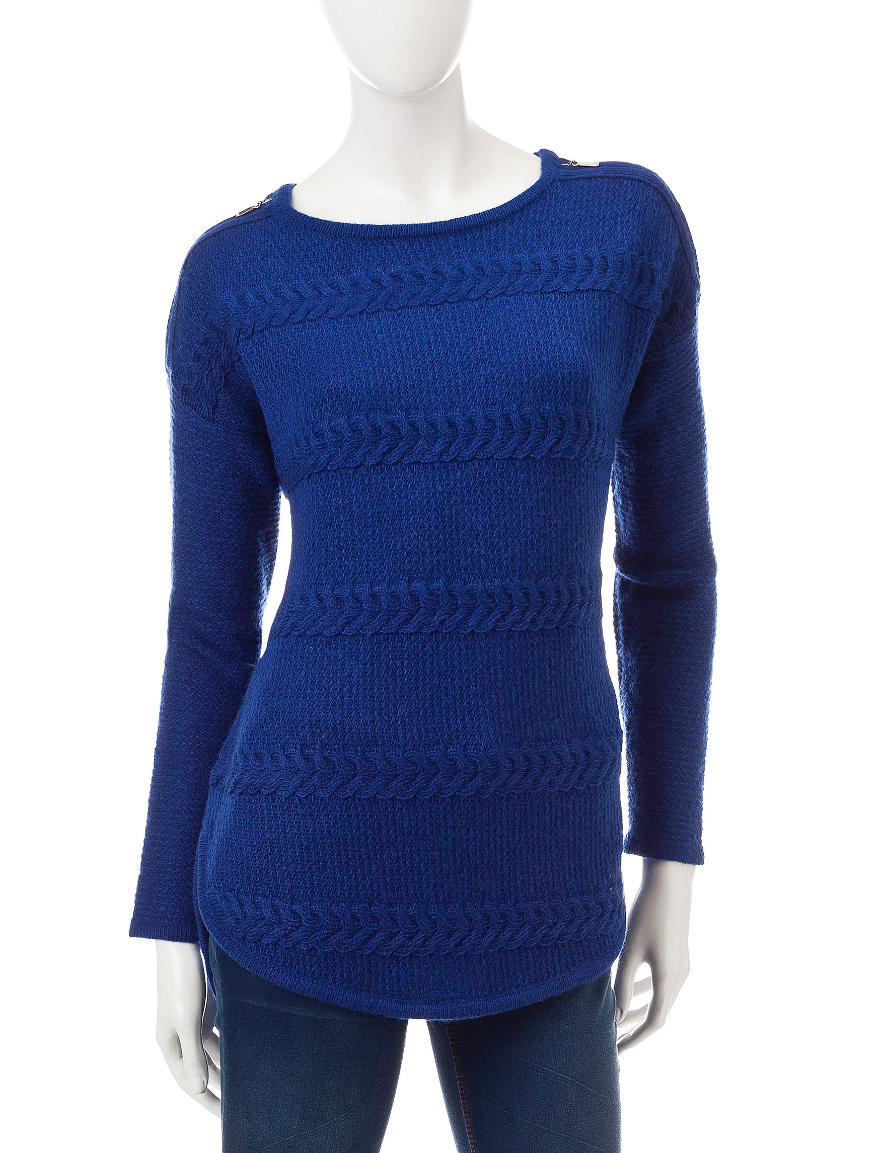 Signature Studio Blue Shirts & Blouses Sweaters