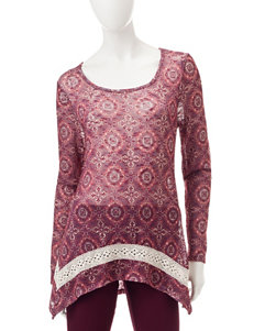 Signature Studio Medallion Print Top