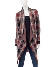 Signature Studio Plaid Knit Cardigan