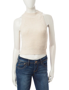 Taylor & Sage White Knit Crop Top