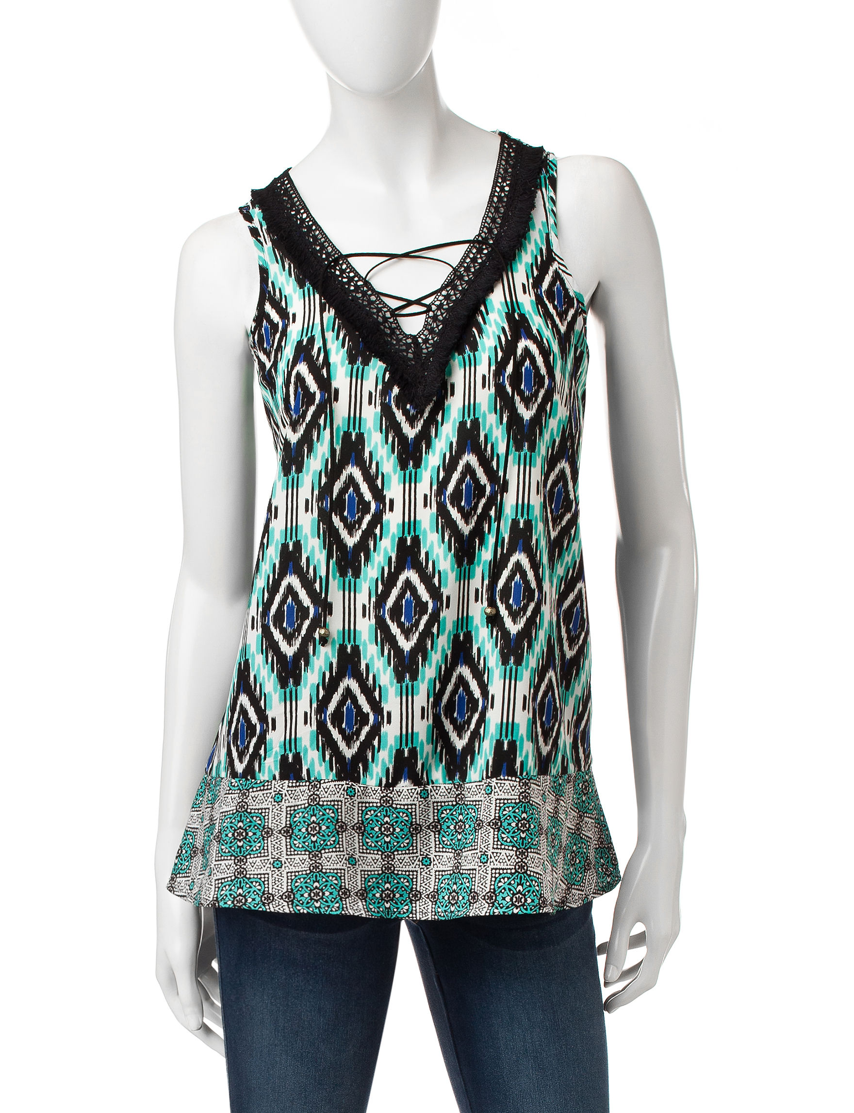 Heart Soul Ivory Multi Tees & Tanks
