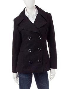 Rampage Black Peacoats & Overcoats