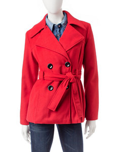 Rampage Red Peacoats & Overcoats
