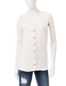 Liberty Love Ivory Casual Button Down Shirts
