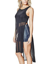 G by Guess Elinora Mesh Overlay Tunic Top