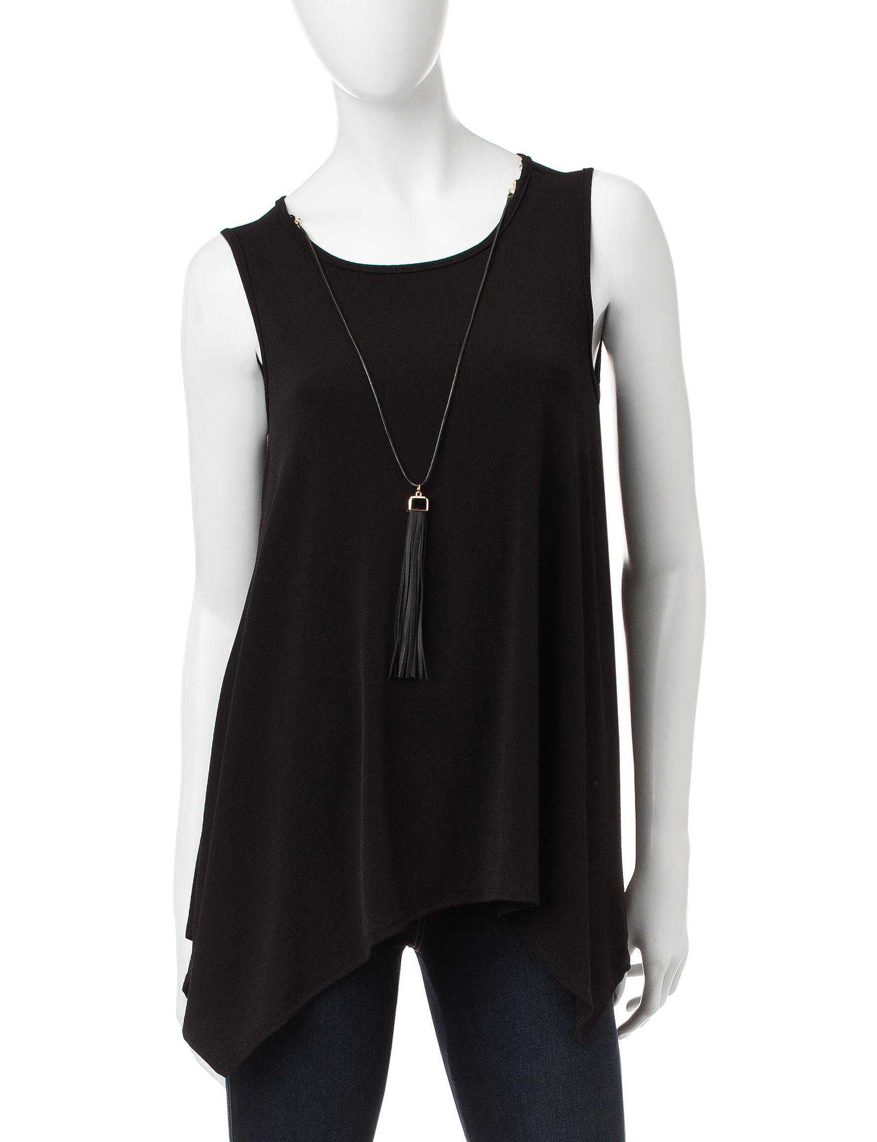 Double Click Black Shirts & Blouses