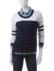 Cloud Chaser Color Block Sweater