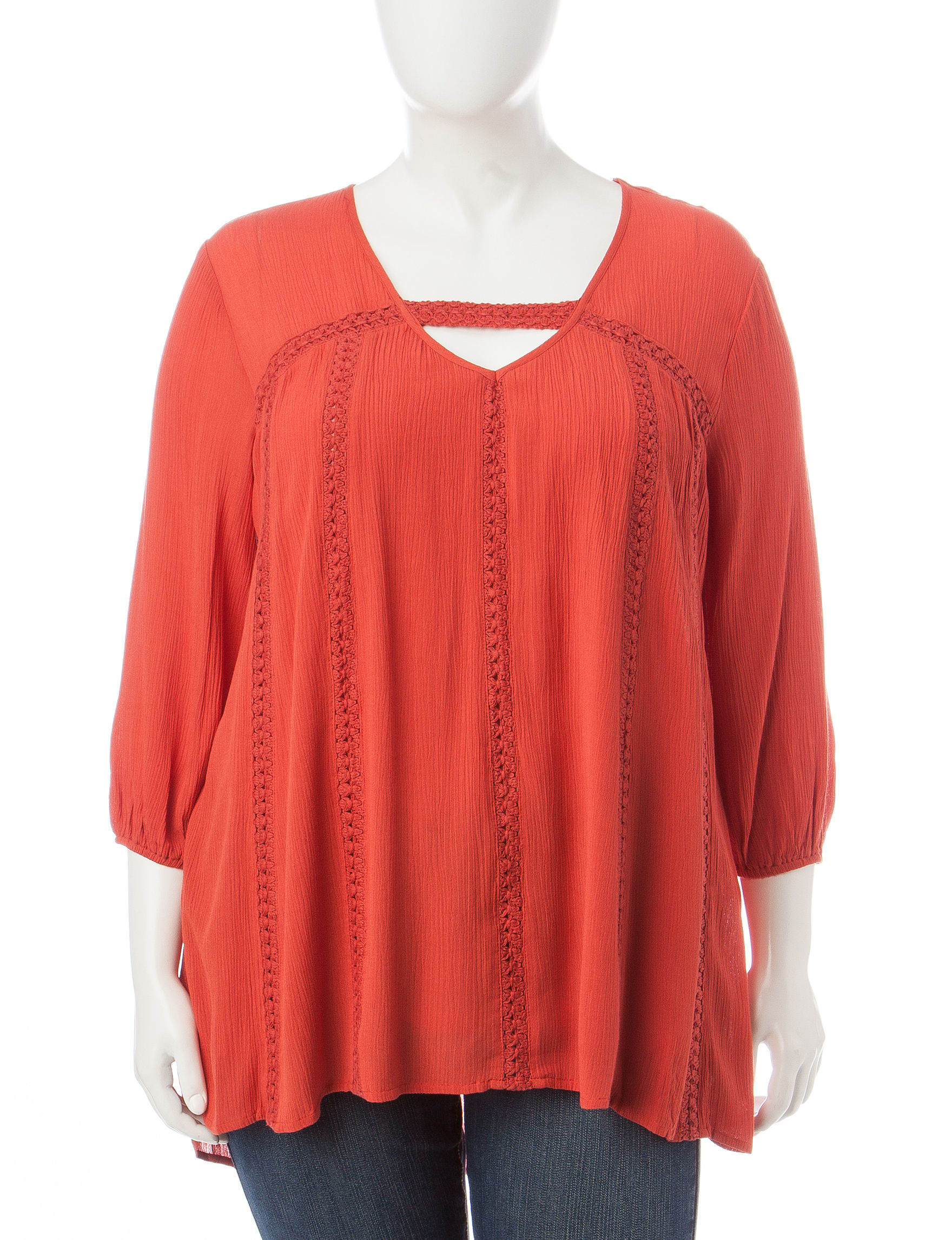 Eyeshadow Orange Shirts & Blouses