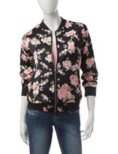 Justify Multicolor Floral Print Bomber Jacket