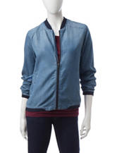 Justify Chambray Bomber Jacket