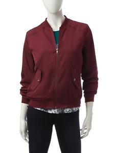 Justify Burgundy Lightweight Jackets & Blazers