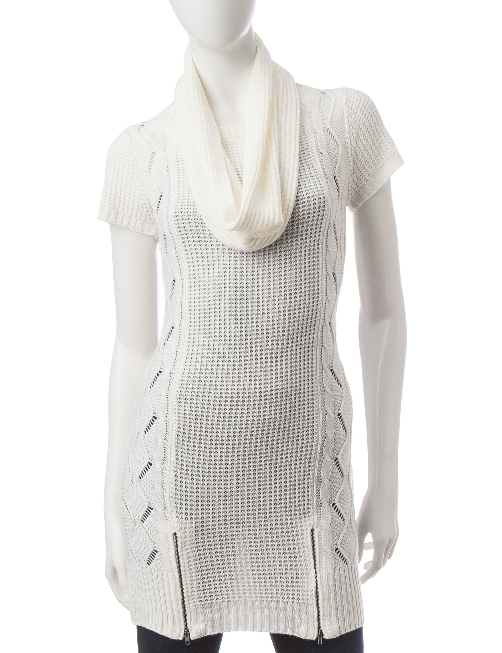 Made for Me to Look Amazing White Sweaters Tunics