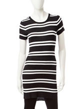 Made For Me To Look Amazing Striped Print Ribbed Top