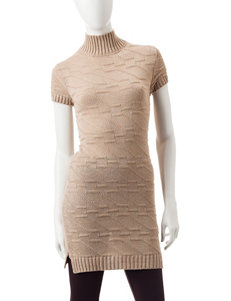 Made for Me to Look Amazing Beige Sweaters Tunics