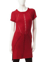 Made For Me To Look Amazing Red Chevron Knit Tunic