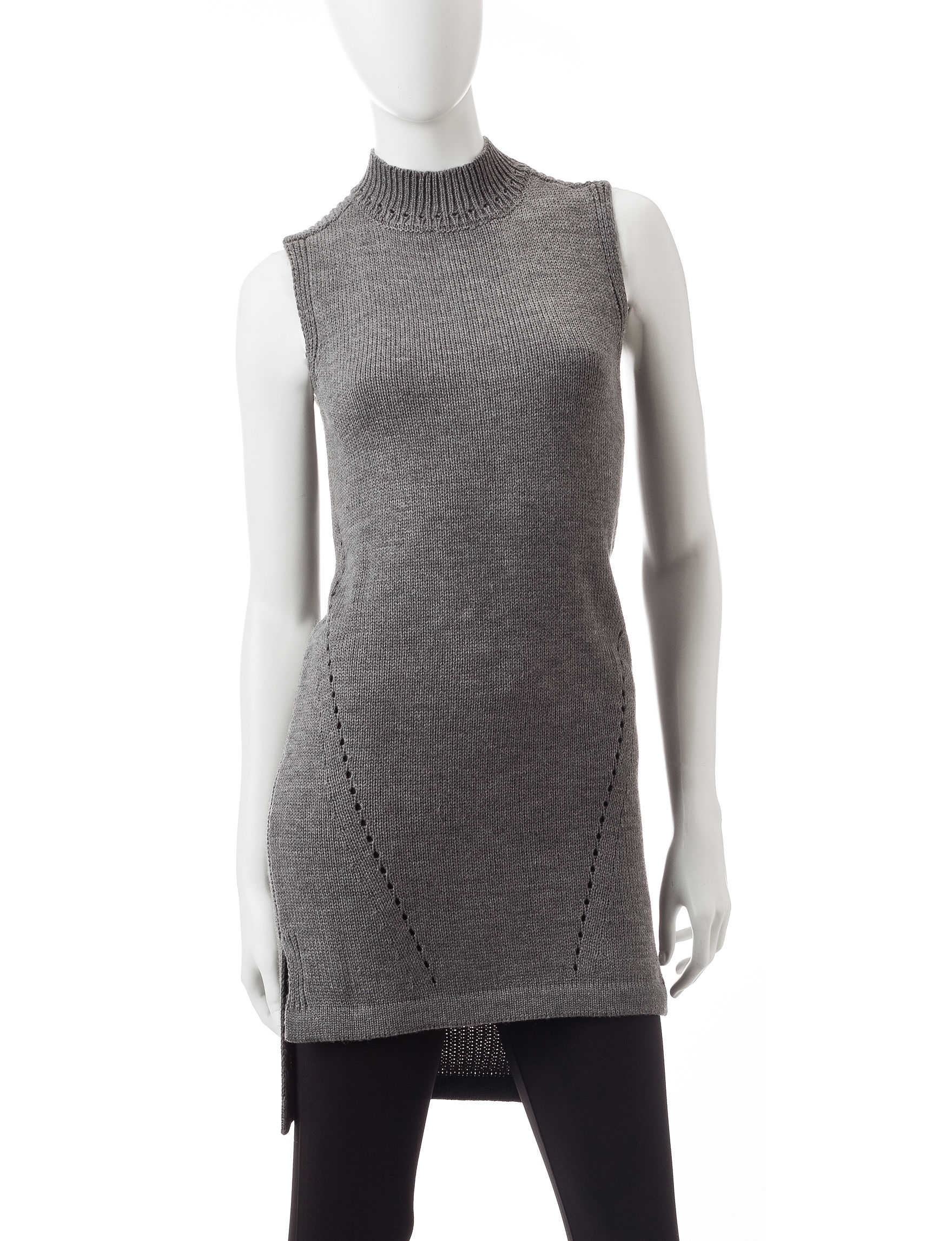 Made for Me to Look Amazing Dark Heather Grey Sweaters Tunics