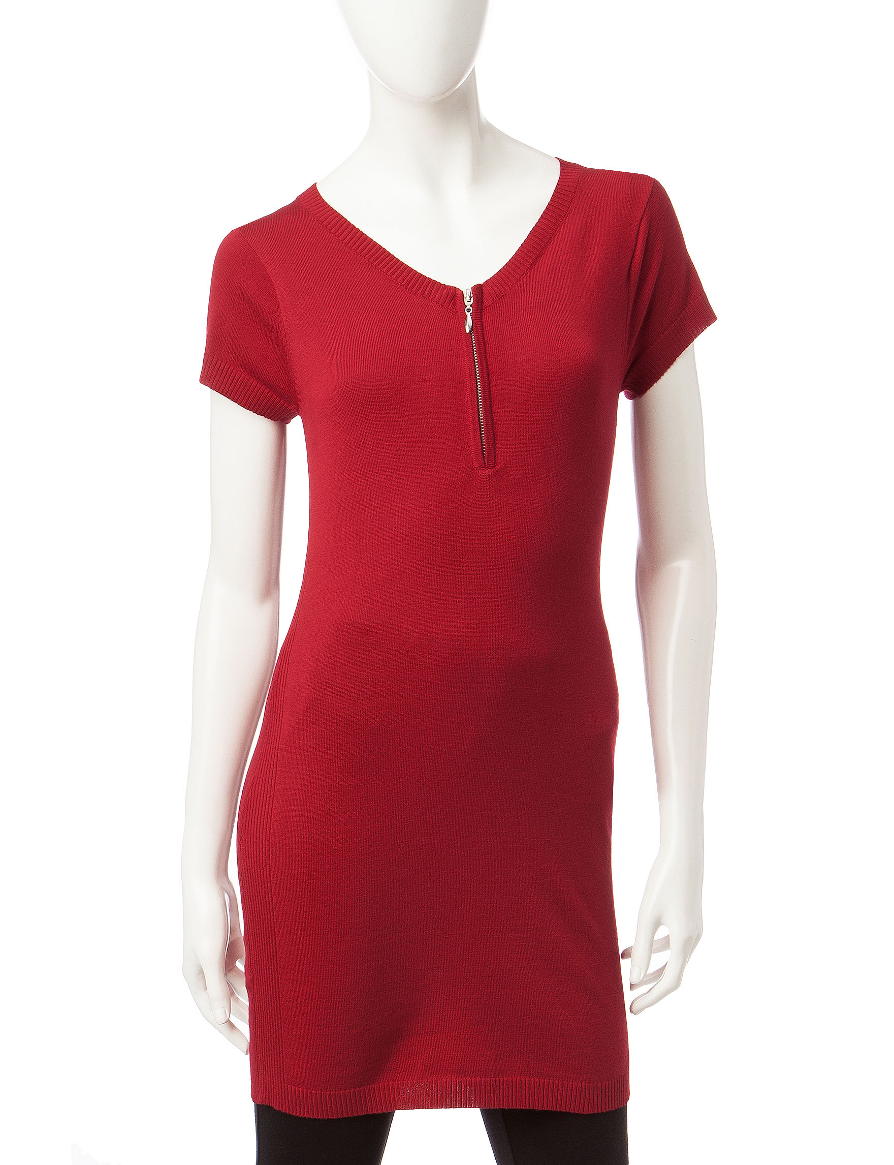 Made for Me to Look Amazing Bright Red Sweaters Tunics