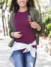 Hybrid Maroon Patch Top