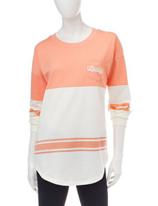 Justify Orange & White Color Block Weekend Top