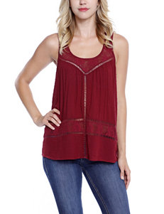 Taylor & Sage Red Lace & Crochet Top