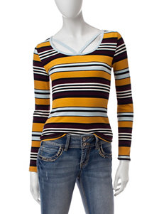 Curve Revolution Yellow Pull-overs Shirts & Blouses