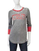 Almost Famous Personal Foul Burnwash Knit Top