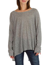 Union Bay Grey Split Open Back Top
