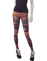 Justify Tribal Striped Peached Leggings