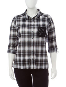 No Comment Black / White Shirts & Blouses