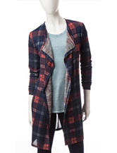 It's Our Time Multicolor Plaid Knit Cardigan