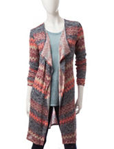 It's Our Time Multicolor Abstract Striped Cardigan