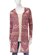 It's Our Time Multicolor Tribal Knit Hooded Cardigan