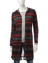 It's Our Time Multicolor Striped Hooded Cardigan