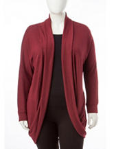 Justify Juniors-plus Burgundy Cardigan