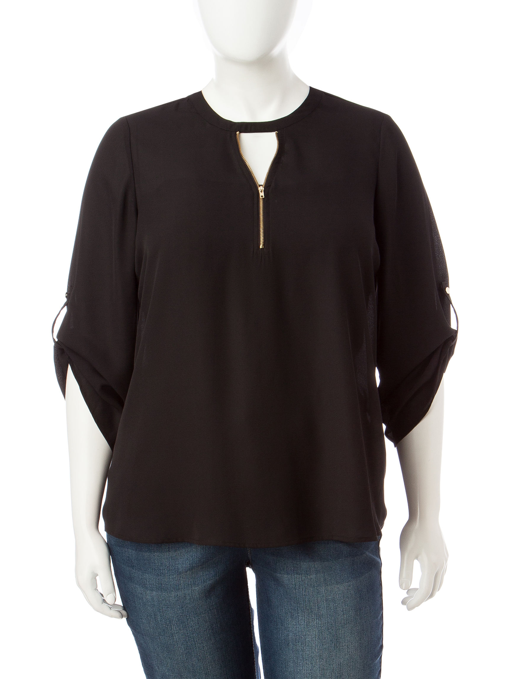Justify Black Shirts & Blouses
