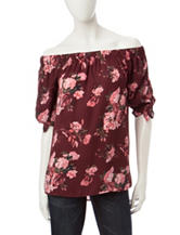 Wishful Park Off the Shoulder Floral Print Top