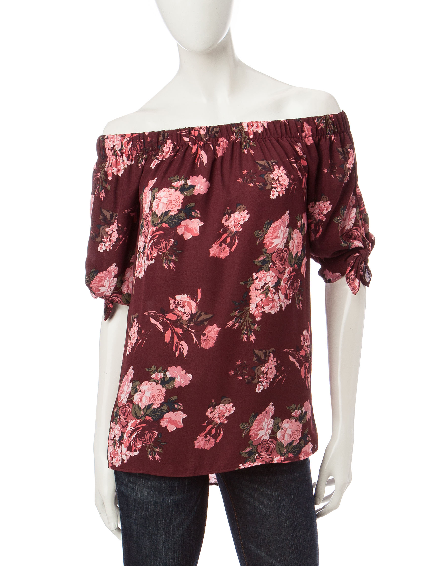 Wishful Park Wine Pull-overs Shirts & Blouses