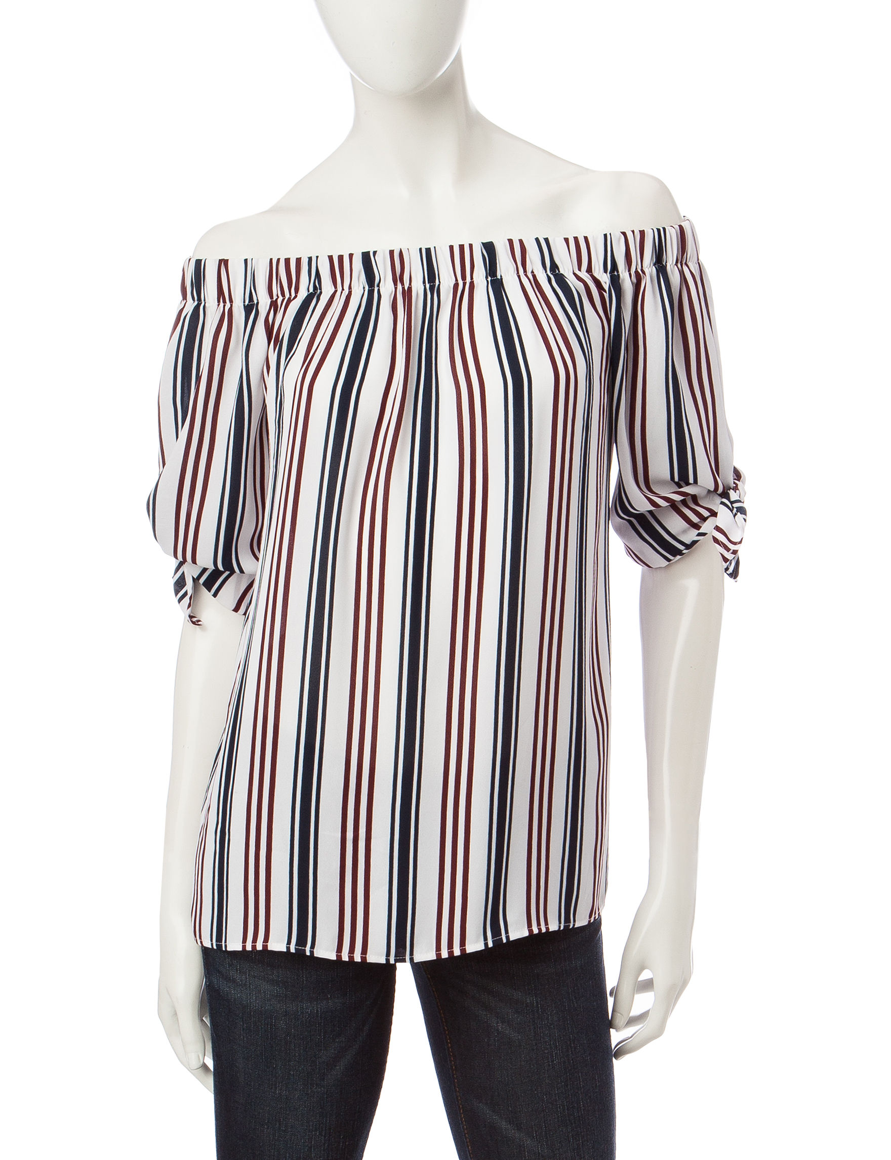 Wishful Park Navy Stripe Pull-overs Shirts & Blouses